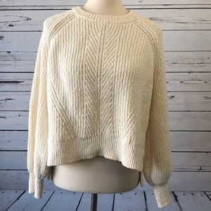 NWOT Madewell Chunky Knit Sweater XXL Off White